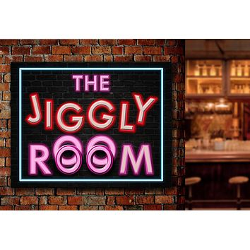 The Jiggly Room Framed Canvas Wall Art  Al Bundy Favorite