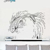 Vinyl Wall Decal Sticker Japanese Koi Fish #367