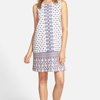 Junior Women's Everly Print Shift Dress,