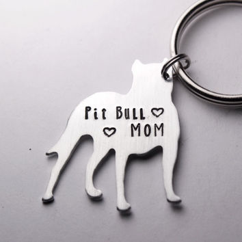 Pit Bull Mom / Dad Keychain