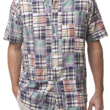 Chase SS Shirt Somerset Patch Madras