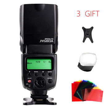 VILTROX JY680A Universal LCD Camera Flash Light Speedlite with Free Speedlight Color Filter for Canon Nikon Pentax Olympus DSLR