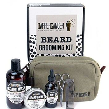 Beard Oil Kit For Men Gift Grooming Care Growth & Maintenance - Organic.