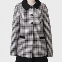 Rumor Has It Houndstooth Coat By Tulle