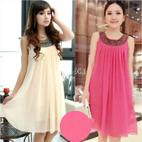 2016 fashion Korean style Maternity dress Chiffon maternity dress maternity clothes Pregnant dresses