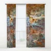"Window curtains - Single or Double panel, 50""x84"" each, Home, Decor, Bedroom, Kitchen, Style, Beige, Gray, Space, Designer, Abstract, Modern"