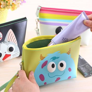 YOUYOU MOUSE Multifunction Cosmetic Bag Women Cute Travel Handbag Purse Large Lady Bags Makeup Cartoon Travelling Bag