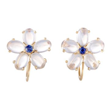 Tiffany & Co. Sapphire and Aquamarine Floral Earrings