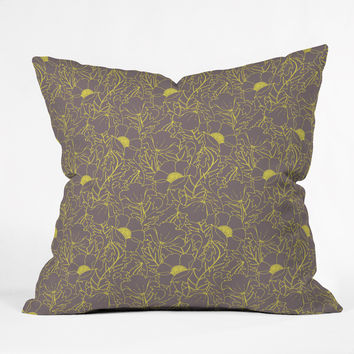 Aimee St Hill Simply June Yellow Throw Pillow