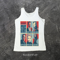 Robert Downey Jr Shirt Tony Stark Iron Man 3 Tank Top T-Shirt Men Women Shirts Size S M L