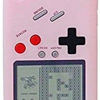 UnnFiko Phone Case for iPhone 7 Plus/iPhone 8 Plus, Creative 3D Tetris Pink Game Boy Case, Funny Retro Hard Smooth Protective Case (iPhone 7 Plus/8 Plus)