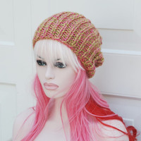 "Womens Knitted  Chunky Soft Knit Beanie Slouch Tam Winter Hat 23"" heads"