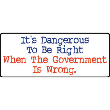 The Government Is Wrong Decal