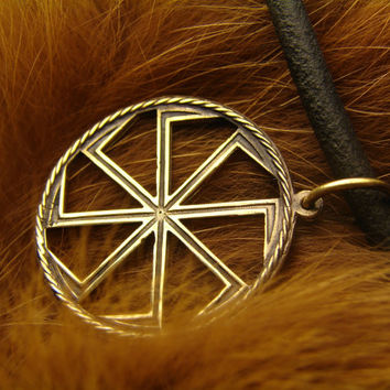 Kolovrat Slavic Pendant, Symbol, Pagan Jewelry, Norse jewelry, Gift for him, Gift for her