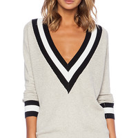 Wilde Heart Varsity Sweater in Gray