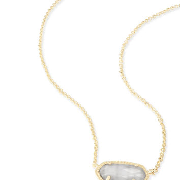 Kendra Scott Elisa Slate Cat's Eye Gold Necklace