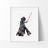 Kylo Ren Star Wars Watercolor Art Print