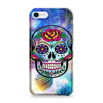 Sugar Skull Colorful Crack Out iPhone 6 | iPhone 6S Case