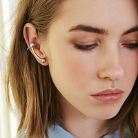 Curved Bar Bauble Ear Cuff