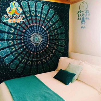 Indian Mandala Tapestry Hippie Wall Hanging Tapestries Boho Bedspread Beach Towel Yoga Mat Blanket Table Cloth 210*150 150*130c