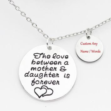 The love between a mother & daughter is forever Necklace Can Custom Name and Put Birthstone Best Gift for Mom YP3139
