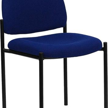Comfort Navy Fabric Stackable Steel Side Reception Chair [BT-515-1-NVY-GG]