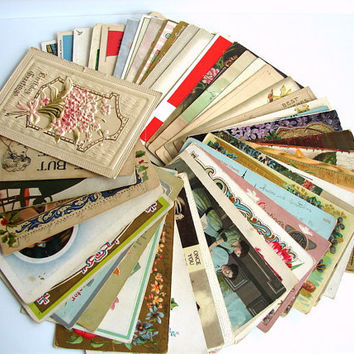 Vintage / Antique Post Card Collection from 19091941 by ThirdShift