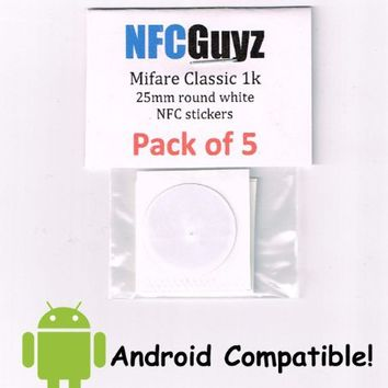 5 Mifare Classic 1k NFC Sticker Tags from NFCGuyz