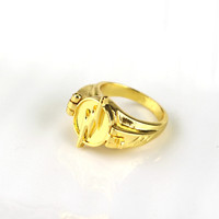 Newest Jewelry Superhero The Flash Ring Can Open Cover Lightning Logo Gold Rings Size 7~12 For Men And Women