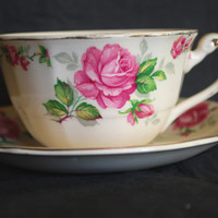 Alfred Meakin Tea Cup and Saucer  , La Belle Robe Tea Set with Sliver