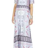 Olivia Scarf Printed Kaftan Dress