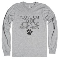 Cat-Unisex Heather Grey T-Shirt