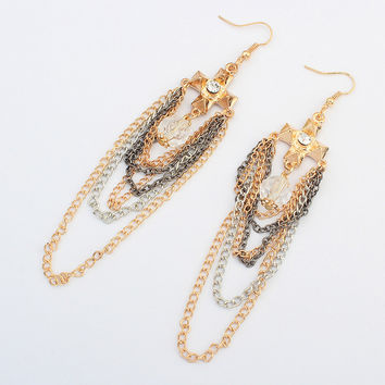 Fashion Cross Tassels Earrings Rack [4919098820]