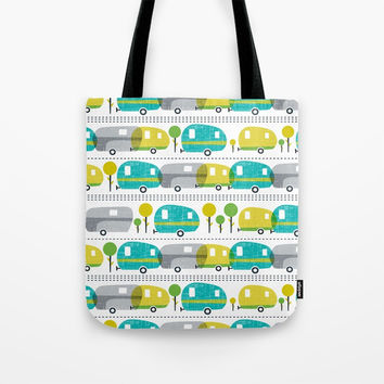 Caravan Tote Bag by Heather Dutton
