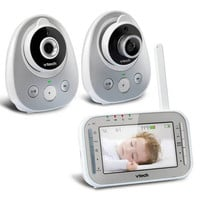VTech Digital Video Baby Monitor with Two Cameras, Night Vision, Wide-Angle and Standard Lens - VM342-2