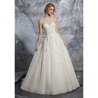 Morilee 8215 Kiara Classic Beaded Ball Gown Wedding Dress
