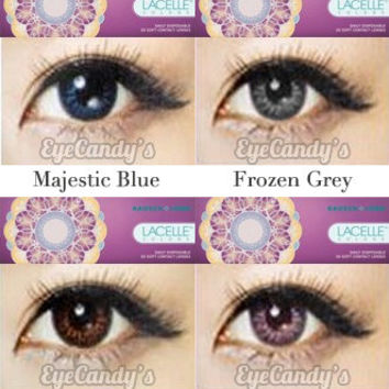 Bausch Lomb Lacelle Colors Circle Lens Colored Contacts Cosmetic Fashion Lenses