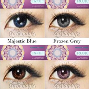 Bausch & Lomb LACELLE Colors circle lens - colored contacts - cosmetic fashion lenses | EyeCandy's