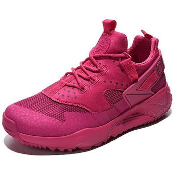 NIKE warm casual shoes sports running shoes Rose red