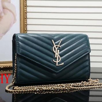 YSL Women Shopping Leather Chain Crossbody Satchel Shoulder Bag
