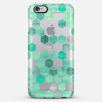 Mint Green Crystal Hexagon Watercolor Pattern iPhone 5s case by Micklyn Le Feuvre | Casetify