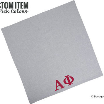 Alpha Phi Sorority Custom Blanket