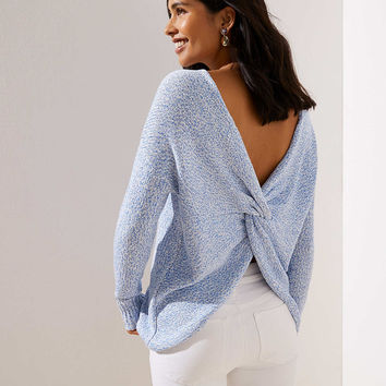 Petite Twist Back Sweater | LOFT