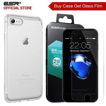 Case for iPhone 8/8 Plus, ESR Soft TPU Bumper Hard PC Hybrid Case for iPhone 7/7P Free gift [Buy 1 case get 1 Glass Screen Film]