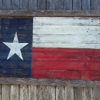 Wood Texas Flag, Rustic Texas Flag 50x27