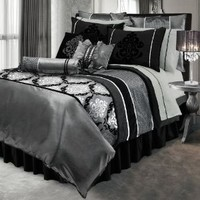 Lawrence Home Fashions 19622 Comforter Set - King- Boudoir