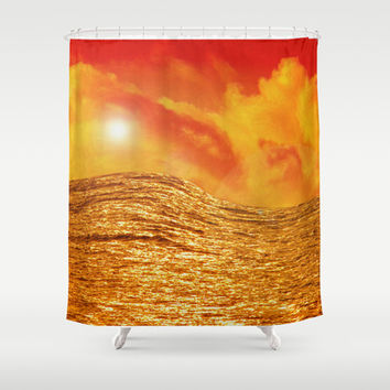 FIRE AND WATER Shower Curtain by Catspaws