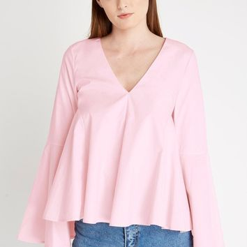 White Simplicity Long Sleeve Top