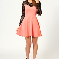 Kate Lace Top Skater Dress
