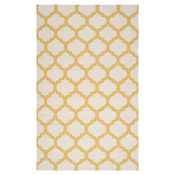 Surya Frontier White & Golden Yellow Area Rug